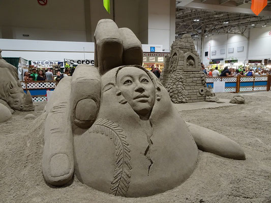 Sandskulptur auf der Canadian National Exhibition in Toronto.