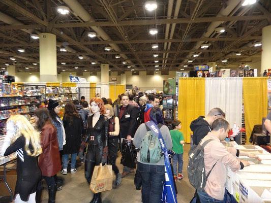Toronto Comicon 2016: Blick in die Halle mit den Verkaufsständen.
