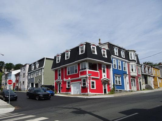 Urlaub in Neufundland: Noch ein typisches St. John's Foto mit bunten Häusern.