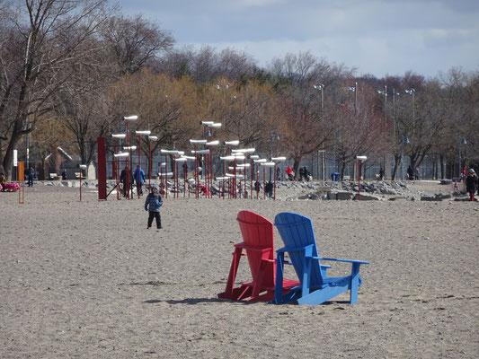 Winterstations 2018 am Woodbine Beach in Toronto.