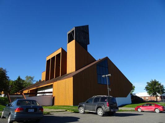 Urlaub in Quebec: Hölzerne Kathedrale in Gaspé.