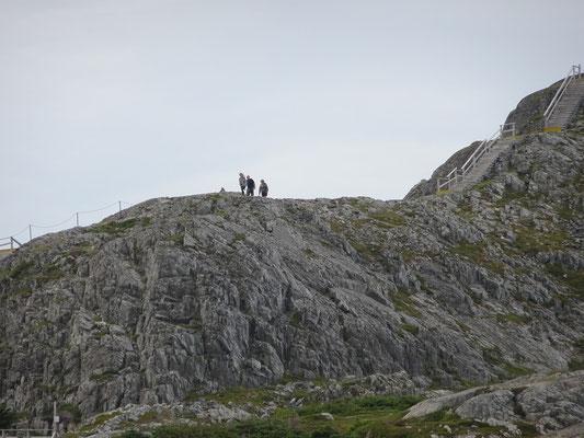 Wandern auf dem Brimstone Head auf Fogo Island.