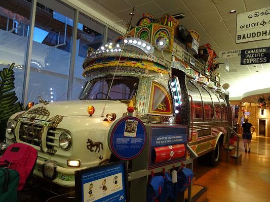 Urlaub in Ottawa: Reisebus im Kindermuseum.