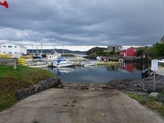 Urlaub in Neufundland: Der Hafen von Happy Adventure.