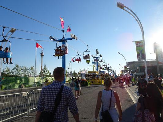 Die Canadian National Exhibition in Toronto ist eine Mischung aus Rummelplatz, Verkaufsmesse und Ausstellung.