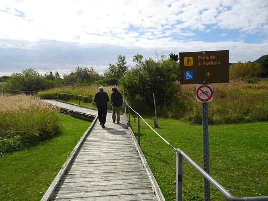 Urlaub in Quebec: Lehrpfad Prelude à Forillon auf der Ostseite des Forillon Nationalparks.