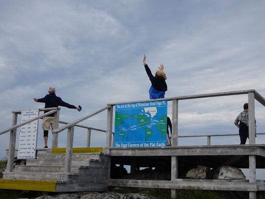 Geschafft: Auf dem Brimstone Head auf Fogo Island kann man den Wind im Haar spüren.