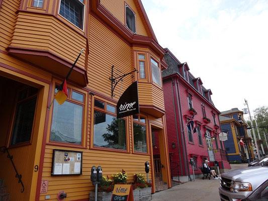 Urlaub in Nova Scotia: Gepflegte alte Gebäude in der Innenstadt von Lunenburg.