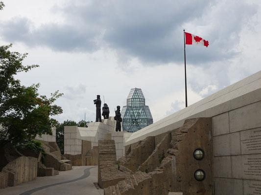Urlaub in Ottawa: Denkmal für UN-Beobachter.