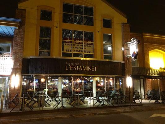 Urlaub in Quebec: Restaurant in der Innenstadt von Riviére-du-Loup.