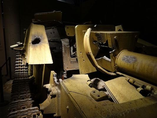 Kriegsmuseum in Ottawa: Zerstörtes deutsches Sturmgeschütz aus dem Italienfeldzug 1943-45.