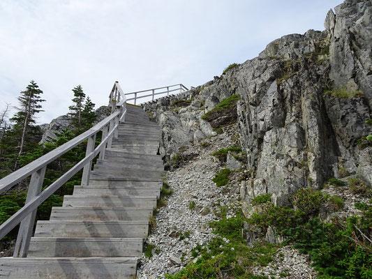 Aufstieg zum Brimstone Head auf Fogo Island.