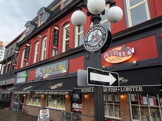 Urlaub in Ottawa: Fischrestaurant auf dem ByWard Market.