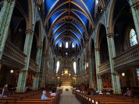 Urlaub in Ottawa: Besuch in der Notre Dame Basilica.