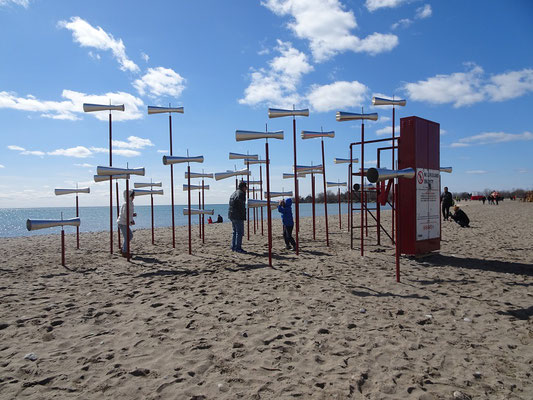 "Winterstations 2018 in Toronto: Die Installation ""Revolution"" am Woodbine Beach."
