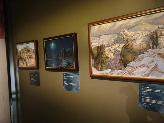 Kriegsmuseum in Ottawa: Gemälde zu Ereignissen aus dem Koreakrieg.
