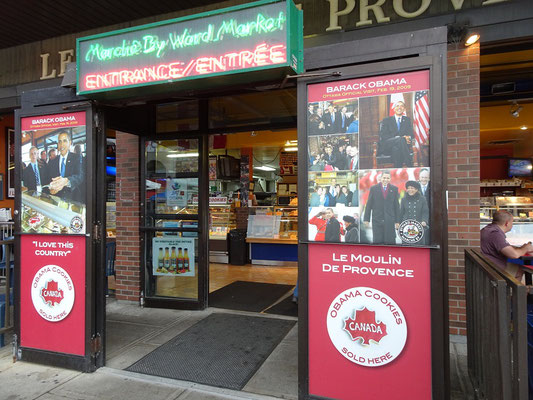 Urlaub in Ottawa: Neben Schokolade und Eiscreme findet man auf dem ByWard Market auch Obama-Kekse.