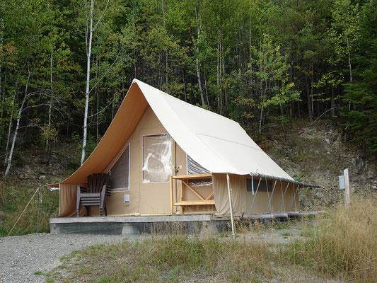 Urlaub in Quebec: Neben Campingplätzen bietet der Lac Temiscouata Nationalpark auch eigene Unterkünfte an, die man über die Website der Quebecer Naturparks buchen kann.