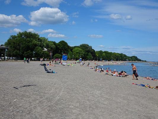Kew Beach im Westen Torontos: Hier ist der Strand etwas steiniger.