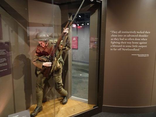 "Sonderausstellung zum I. Weltkrieg im Museum ""The Rooms"" in St. John's."