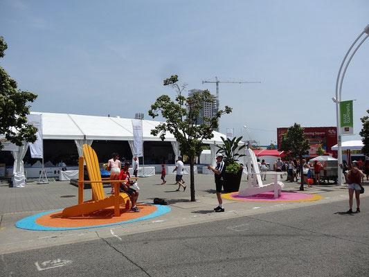 Strandatmosphäre bei den Pan Am Games in Toronto? Die Temperaturen passen dazu.