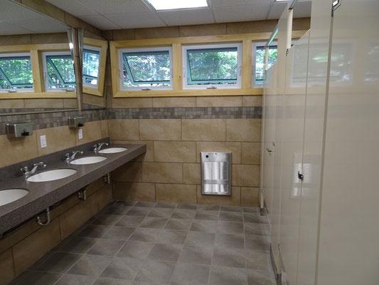 Campingplatz Berry Hill im Gros Morne Nationalpark: Über die sanitären Einrichtungen kann man sich nicht beschweren.