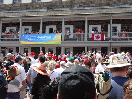Grosser Andrang an der Zitadelle beim Canada Day in Halifax.