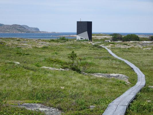 """Ein weiteres Atelier auf Fogo Island: Das Studio """"Tower"""" sieht man schon von weitem."""
