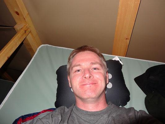 Übernachtung im oTENTik im Fundy National Park: Schlafsack und Kopfkissen sind selbst mitzubringen.