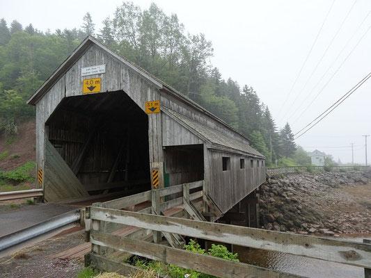 Brücke im St. Martins, New Brunswick.
