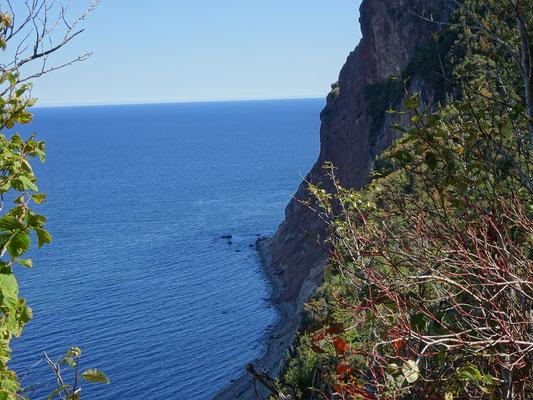 Urlaub in Quebec: Blick auf eine Steilküste nahe Percé.