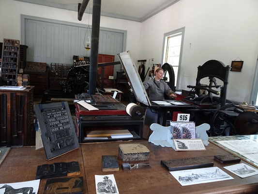 Black Creek Pioneer Village: Blick in die Druckerei.