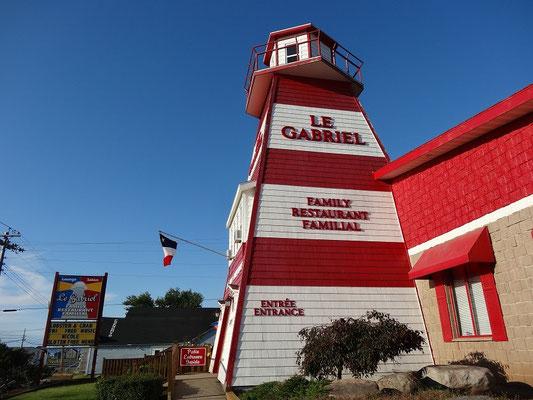 Spektakulärer Eingang zum Restaurant in Cheticamp auf Cape Breton Island.