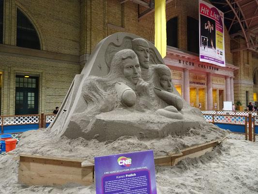 Eine Sandskulptur zum Thema Star Trek gab es auf der Canadian National Exhibition in Toronto natürlich auch.