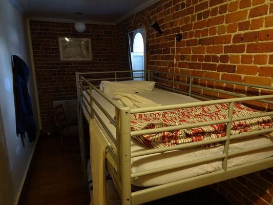 Urlaub in Ottawa: Blick in ein 4-Personen-Zimmer im Gefängnis Hostel.