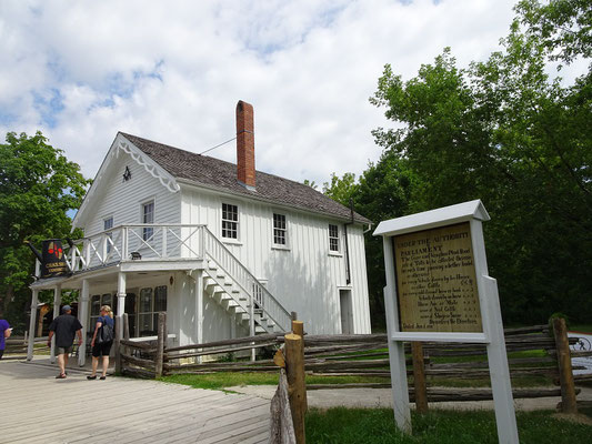 Black Creek Pioneer Village in Toronto: Blick auf die Klempner-Werkstatt.