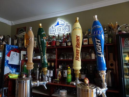 Urlaub in Neufundland: Blick auf das lokale Bierangebot.