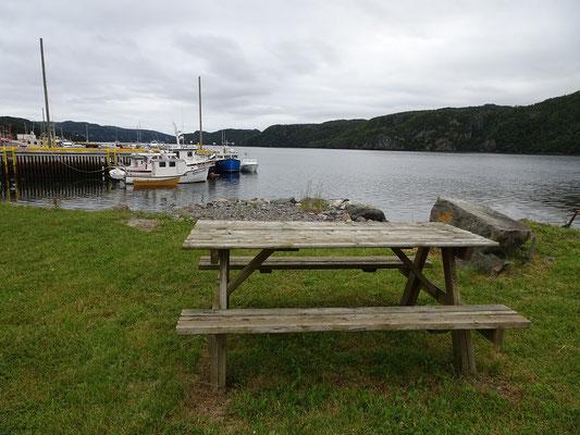Urlaub in Neufundland: Morgen im kleinen Hafen von Placentia.