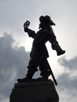 Urlaub in Ottawa: Statue von Samuel de Champlain.