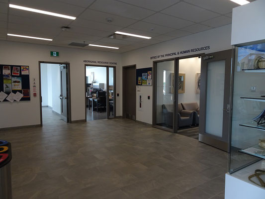 Im Welcome Centre des Humber College Lakeshore Campus.