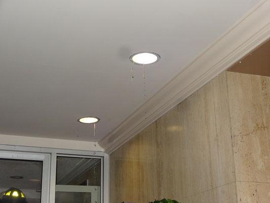 Wenn das Wasser DURCH elektrische Lampen fliesst, sollte man buchstäblich über seinen Standpunkt nachdenken.