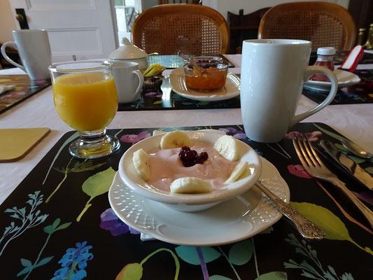 Urlaub in Neufundland: Frühstück im Bed & Breakfast in Glovertown.