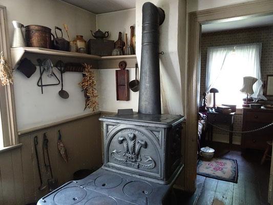 Black Creek Pioneer Village: Blick in das Mackenzie House, das eine kleine Schneider-Werkstatt beherbergte.
