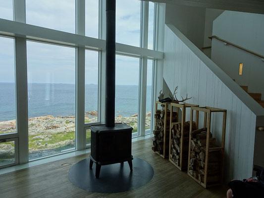 Blick aus dem Fenster des Fogo Island Inn nahe Joe Batt's Arm.