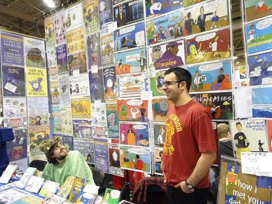 Toronto Comicon 2017: Gute Laune am Verkaufsstand.