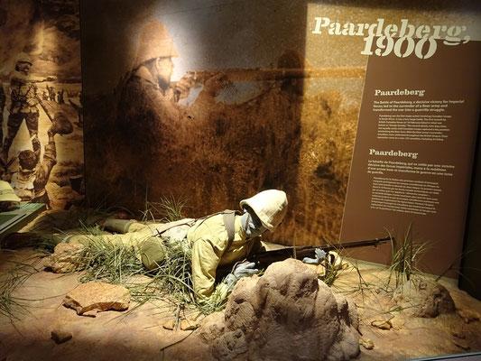 Urlaub in Ottawa: Display im War Museum über die Schlacht von Paardeberg, wo kanadische Truppen die britische Armee bei deren Südafrika-Feldzug unterstützten.