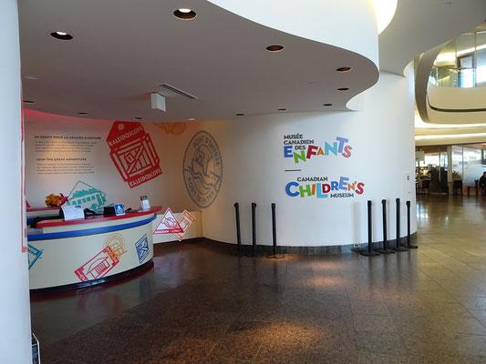 Urlaub in Ottawa: Eingang zum Kindermuseum im Canadian Museum of History.