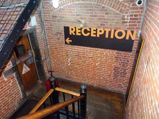 Urlaub in Ottawa: Treppenhaus in der Gefängnisherberge.