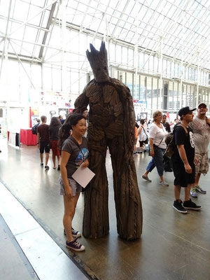 Groot von den Guardians of the Galaxy machte auch Station auf der FanExpo 2015 in Toronto.