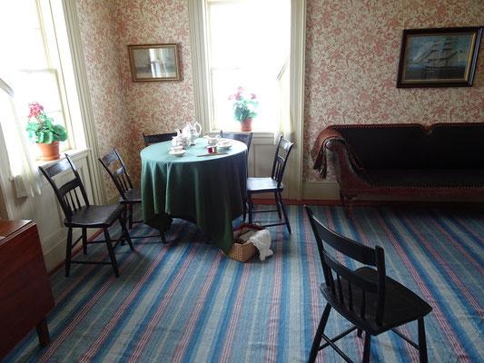Urlaub in Neufundland: Blick ins Wohnzimmer des Leuchtturmwärters von Cape Spear.